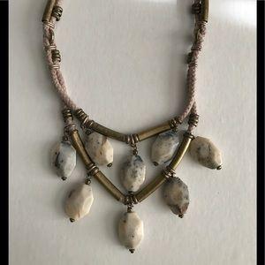 J. Crew Jewelry - 💍 J.CREW stone and brass bead necklace NEW